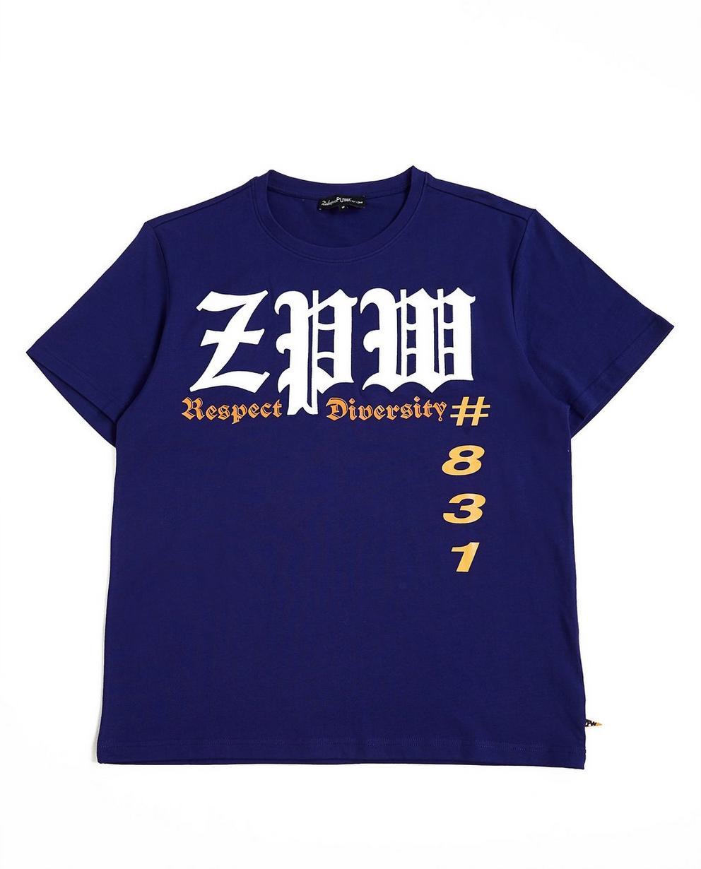 T-shirts - navy - Paars T-shirt met print ZulupaPUWA